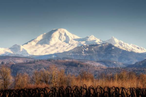 The majestic Mount Baker can be seen from Abbotsford.