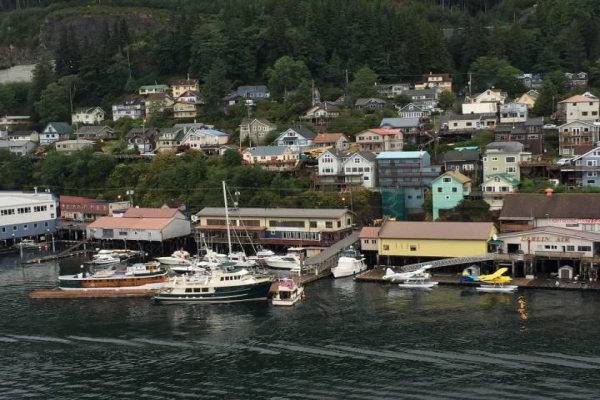 Ketchikan is an Alaskan city known for its many Native American totem poles, on display throughout town.