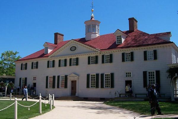 Tourists venture around George Washington's Mount Vernon estate outside of Alexandria, Virginia