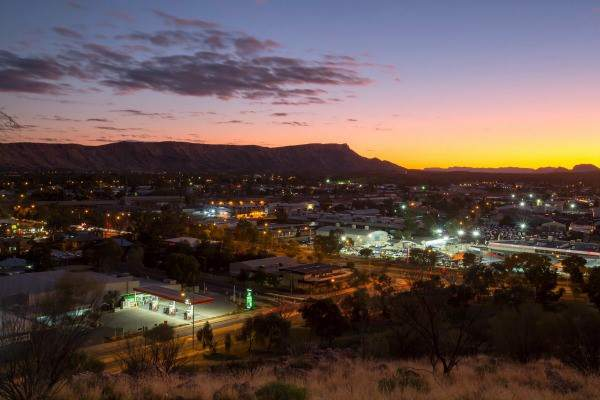 Alice Springs by night