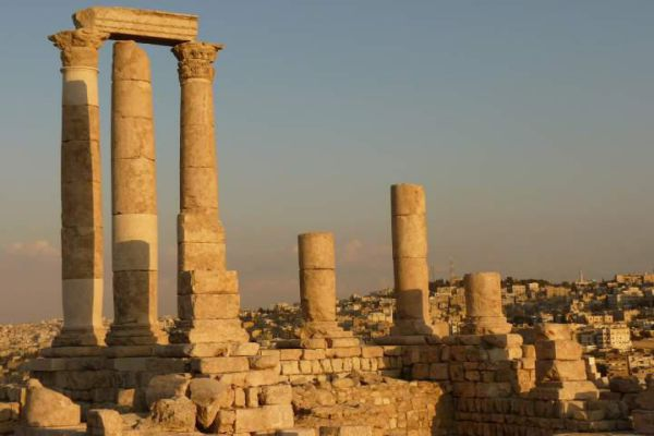 The Amman Citadel is a historical site at the center of downtown Amman.