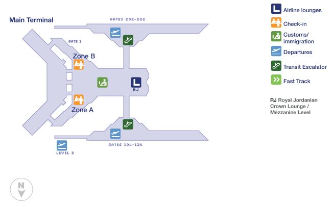 Amman airport terminal map