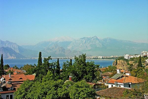 Antalya on the edge of the Mediterranean Sea