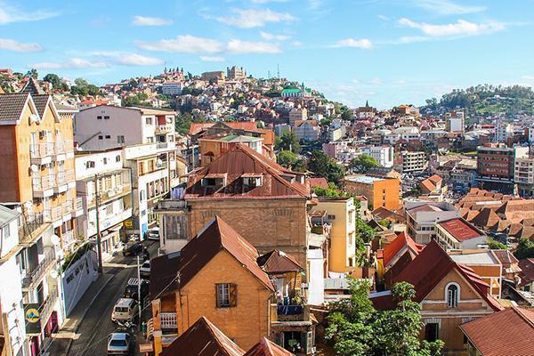 Rooftop view of colourful Antananarivo, Madagascar