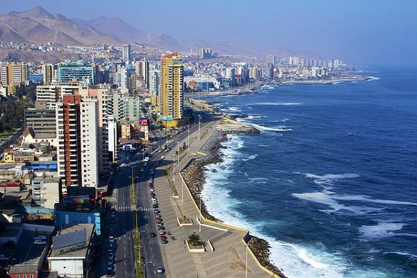 The city of Antofagasta sits on the Chilean coast