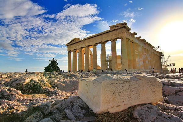 The legendary Parthenon looking grand in Athens, Greece