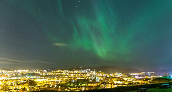 Winter visitors to Trondheim may be lucky enough to catch a glimpse of the aurora borealis.