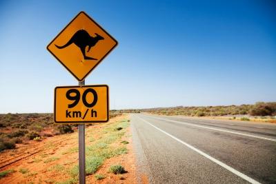 Panneau de signalisation en Australie