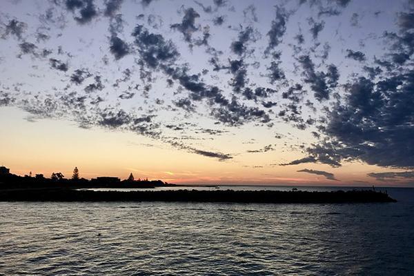 Sunset over the Mandurah estuary in Western Australia