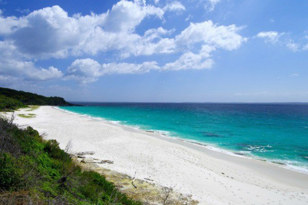 White sand at Hyams Beach NSW