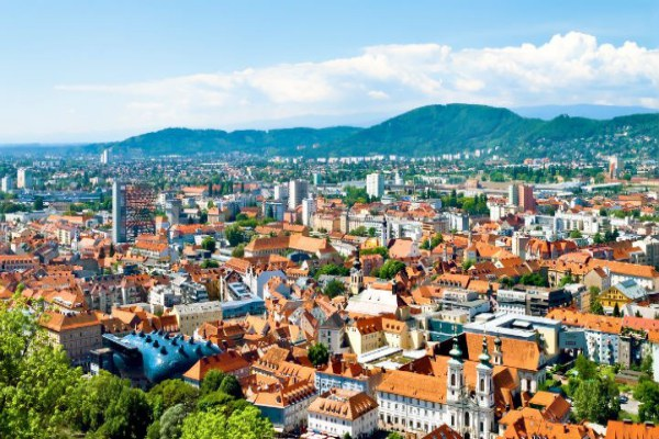 The university city of Graz is a vibrant intersection of old and new.