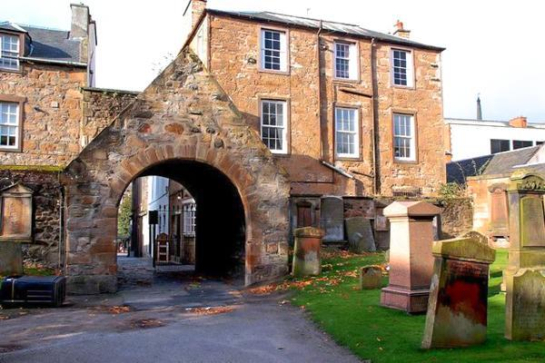 A gateway leads through to the city of Ayr at the Church of St John the Baptist