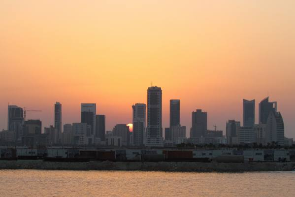 A view over the skyline of Bahrain.