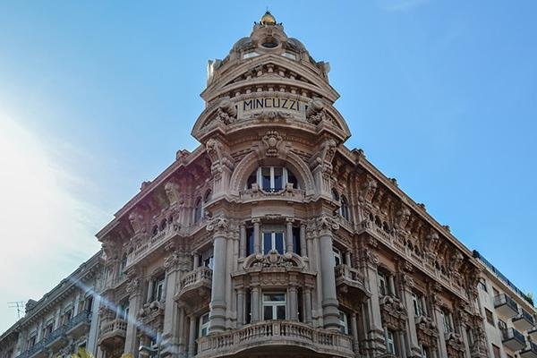 Palazzo Mincuzzi looking grand on a gorgeous day in Bari, Italy