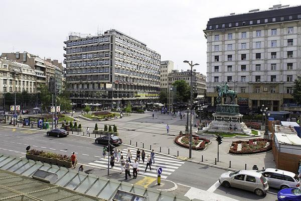 Belgrade Republic Square in central Belgrade, Serbia