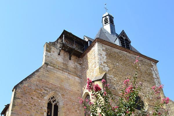 A medieval church (Church Saint Jacques) in Bergerac, France