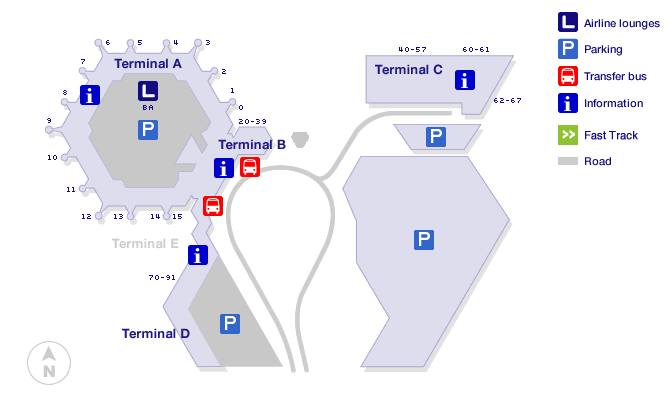 Berlin tegel airport map