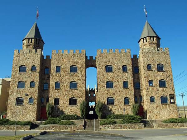 Quinlan Castle in Birmingham, Alabama, listed on the National Register of Historic Places