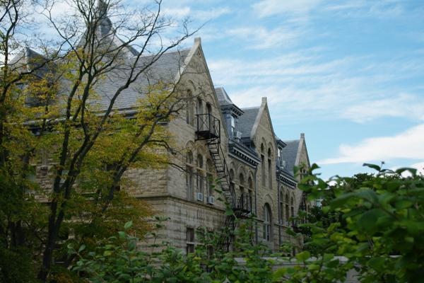 Historic buildings act as classrooms and dormitories for Indiana University in Bloomington