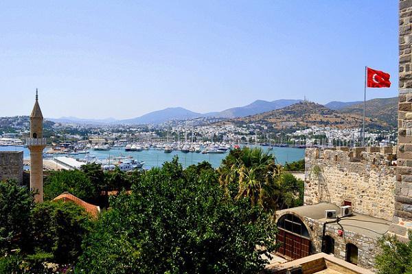 Bodrum overlooks a harbour full of pleasure craft