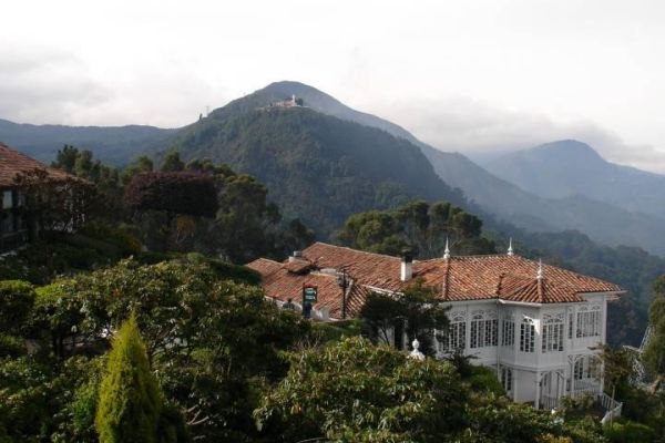 Monserrate is a mountain that dominates the city center of Bogotá, the capital city of Colombia.