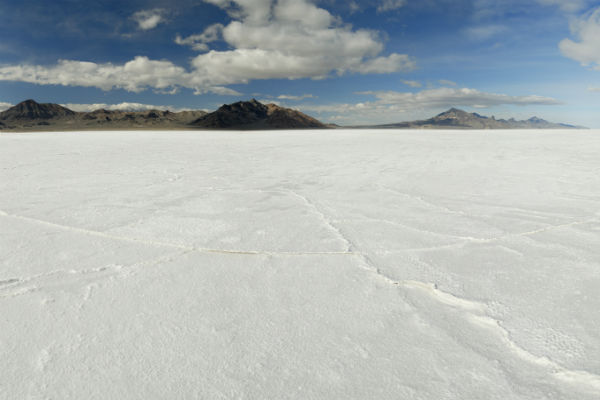 Utah's Bonneville salt flats are truly a sight to behold.