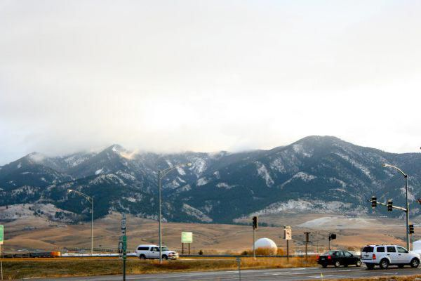 Clouds over the mountains of Bozeman.