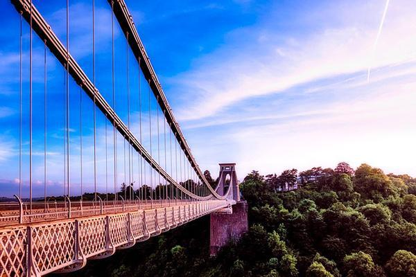 The iconic Clifton Suspension Bridge looking grand on a beautiful day in Bristol, England