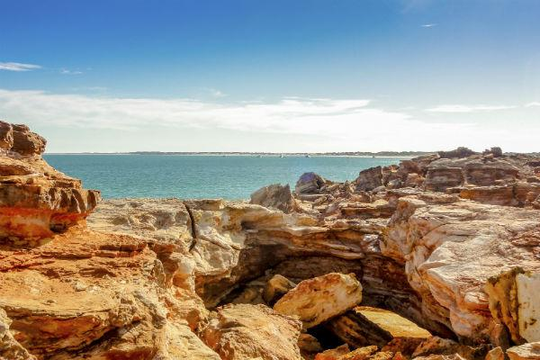Gantheaume Point is not only a beautiful stretch of coastline, you can also spot dinosaur footprints and ancient fossil plants here.