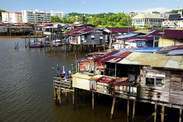 Stilt villages in the Kampong Ayer Water Village in Bandar Seri Begawan, Brunei