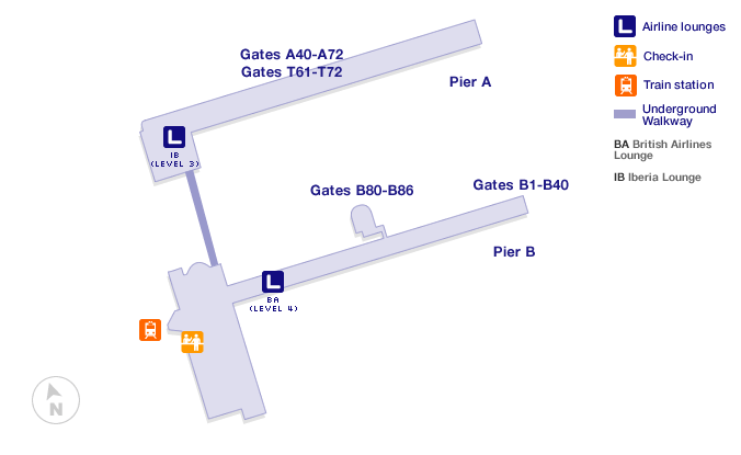 Brussels airport terminal map