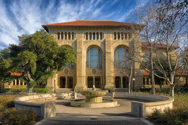 Stanford University in Palo Alto, California exudes historic Southern Californian charm