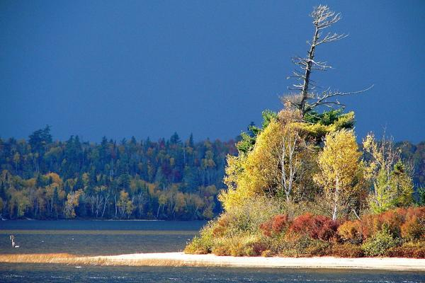 Fall descends on La Verendrye Reserve just outside of Val-d'Or, Canada
