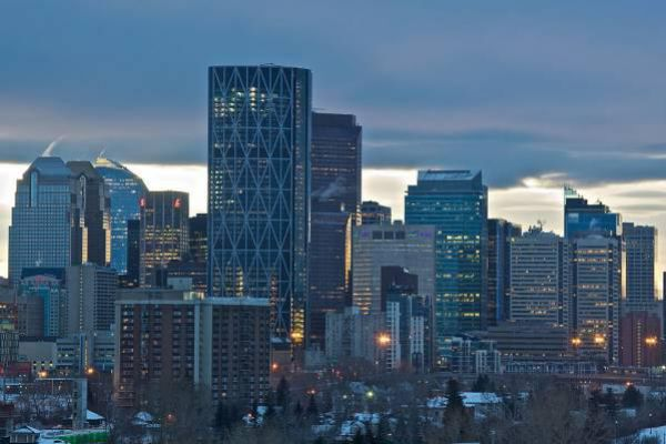 The beautiful skyline of Calgary.