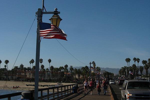 Stearns Wharf is a popular gathering point in Santa Barbara