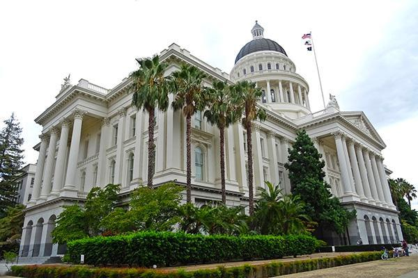 The state capitol building in Sacramento, California