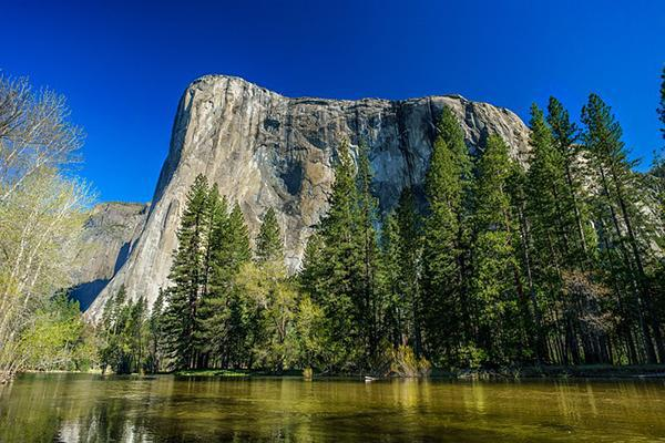 View of El Capitan in Yosemite National Park on a clear day