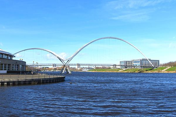 Infinity Bridge in Stockton, California