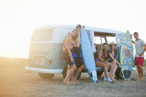Fit all your gear and your friends too in a campervan for your next surf trip.