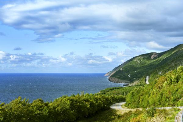 Explore charming seaside towns along the Cabot Trail in Nova Scotia in your motorhome rental.
