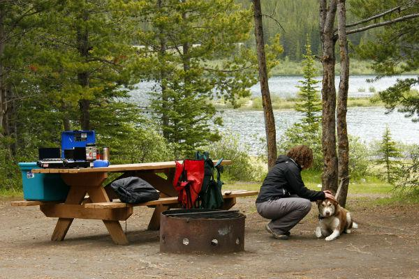 Though you can easily get to Spray Lakes West Campground in very little time from Calgary, you'll still feel like you're deep in the wilderness.