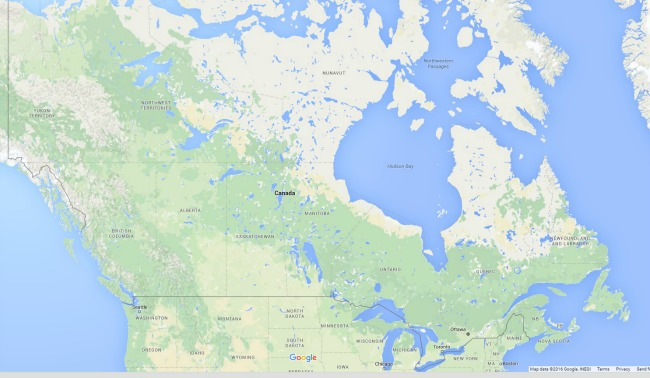 canada land map