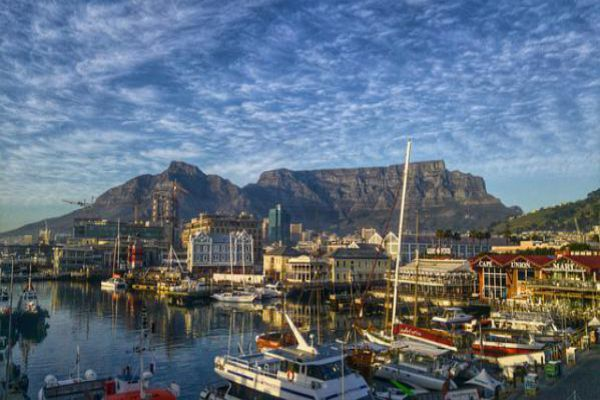 The Port of Cape Town lies in the shadow of Table Mountain.