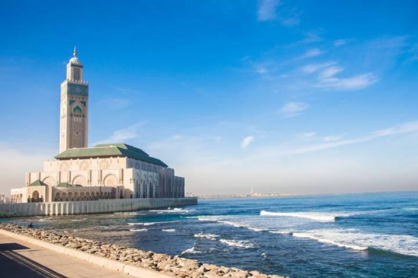 Casablanca is a port city and commercial hub in western Morocco.