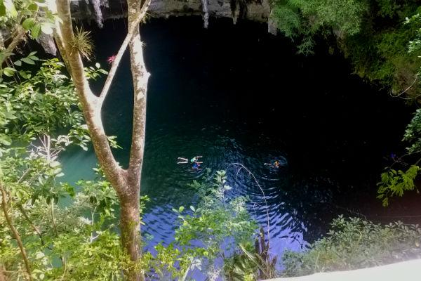 Slip away from the crowds and enjoy beauty in solitude at Cenote Yokdzonot