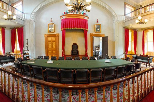 The historic room where Canada's Confederation documents were signed in 1867, in Charlottetown, Prince Edward Island