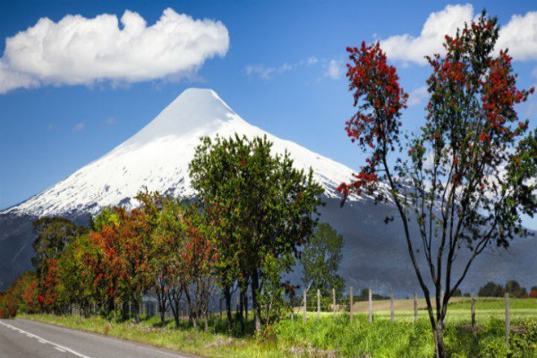 The volcanoes near Puerto Montt are just one of the area's breathtaking attractions