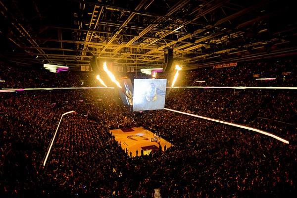 The Cleveland Cavaliers play at Quicken Loans Arena