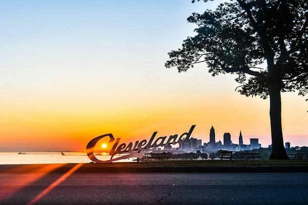 Cleveland sits on Lake Erie