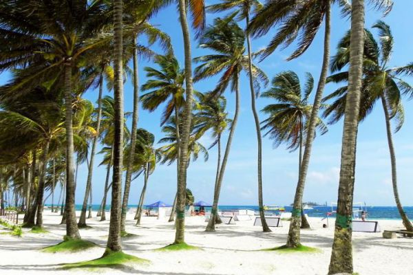 Colombia is a country at the northern tip of South America and is famous for it's beautiful white sand beaches.
